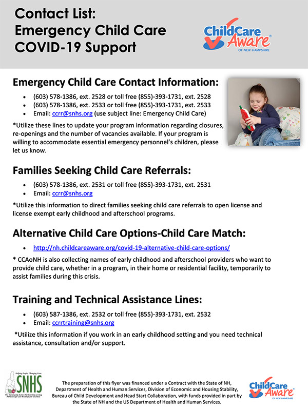 Emergency Child Care Lines