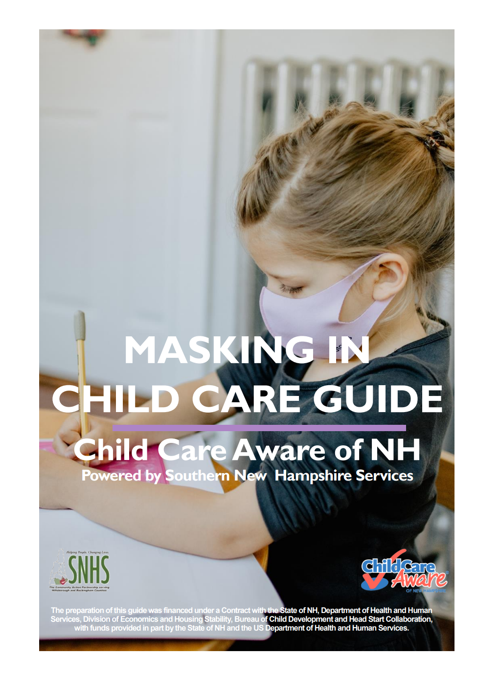 Masking in Child Care Guide Cover