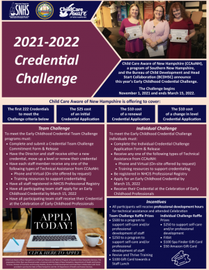 2021-2022 Credential Challenge Flyer Photo